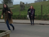 10:14am, 19th March, Avebury - these two terrorised and disprupted my spring equinox this year